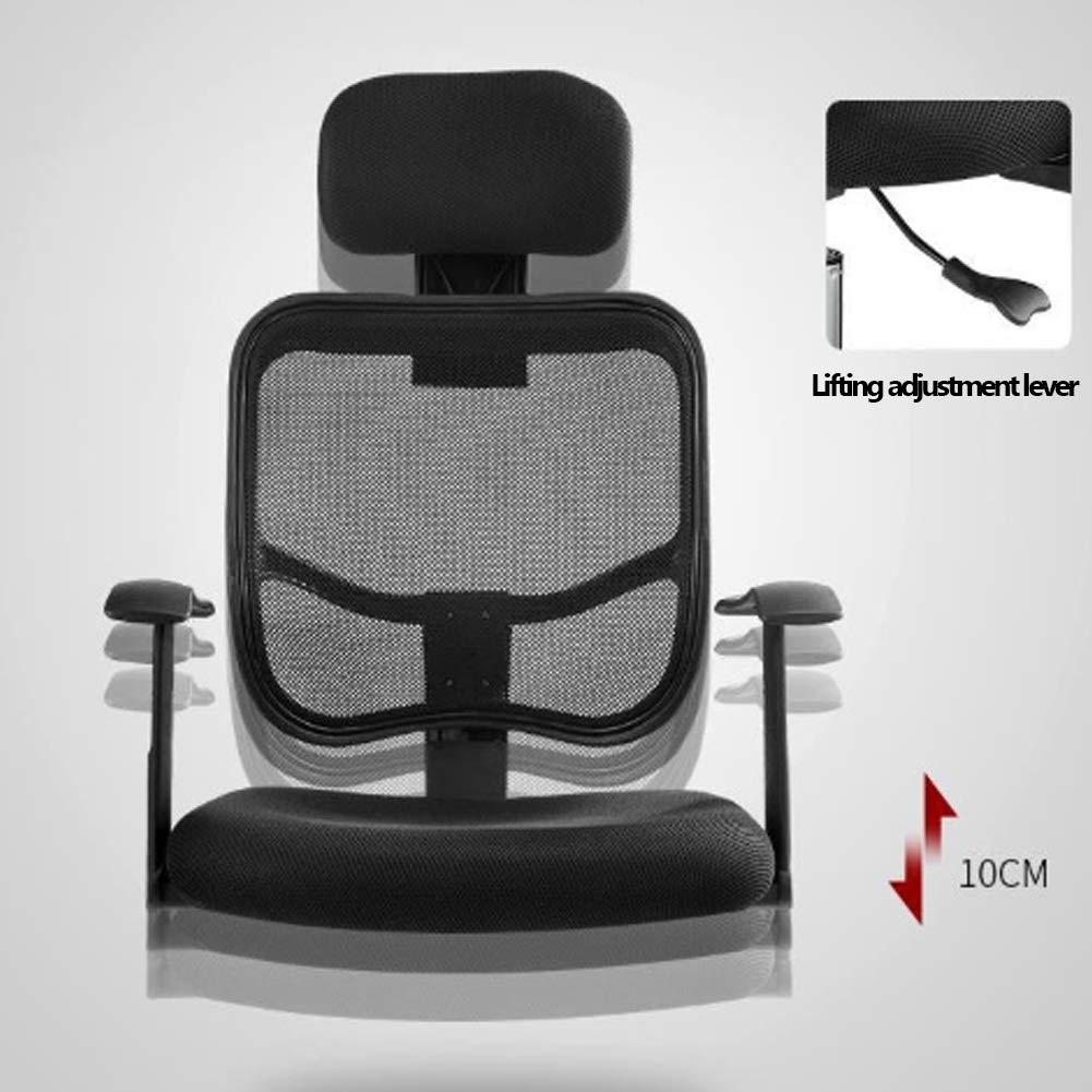 ATGTAOS kontorsstol justerbart stöd, spelstol, datorstol, ergonomisk hemmakontor stol dator skrivbord hög rygghöjd, justerbart nackstöd med huvudstöd nätsäte Svart Orange