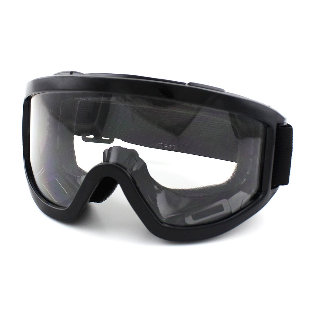 Motorcycle Riding Goggles Aviator Polarized Clear Lens Glasses UV Protection Sunglasses for Motorcycling, Motocross, Outdoor Sports Activities, Climbing, Skiing