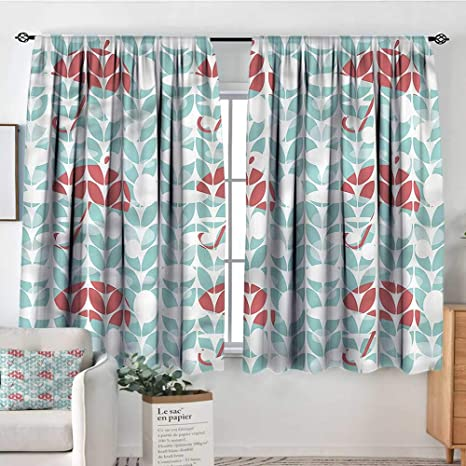 Amazon.com: RenteriaDecor Colorful,Kitchen Curtains Red ...