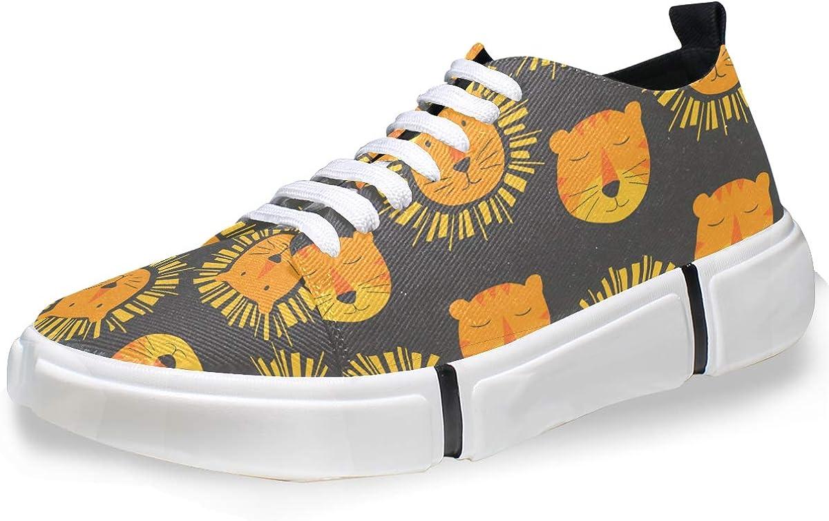 MALPLENA Mens Leisure Shoes Cute Lions Mens Casual Loafers