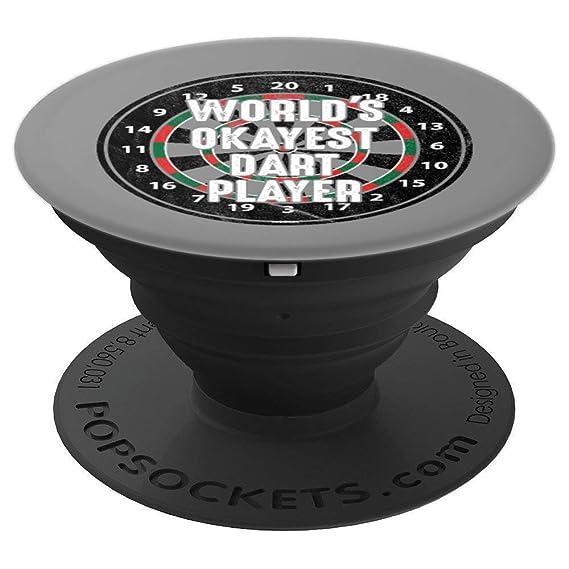 Amazon com: World's Okeyest Dart Player Pop Socket Grip - PopSockets