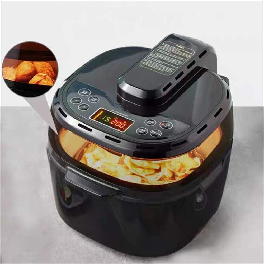 KOUPA 10L Air Fryer,1200-Watt Electric Hot Air Fryers Oven and Oilless Cooker for Roasting,LED Digital Touchscreen, Nonstick Baske