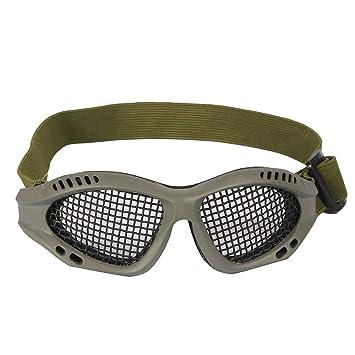Tactical Military Metal Mesh Goggles Lunettes de tir Masque Airsoft Pour CS  Shooting Casque de Chasse da2d83027311
