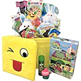 Giant Easter Basket Filled with Toys, Candy & The Eggmazing Egg Decorator Kit - Perfect Easter Gift for Kids & the Family