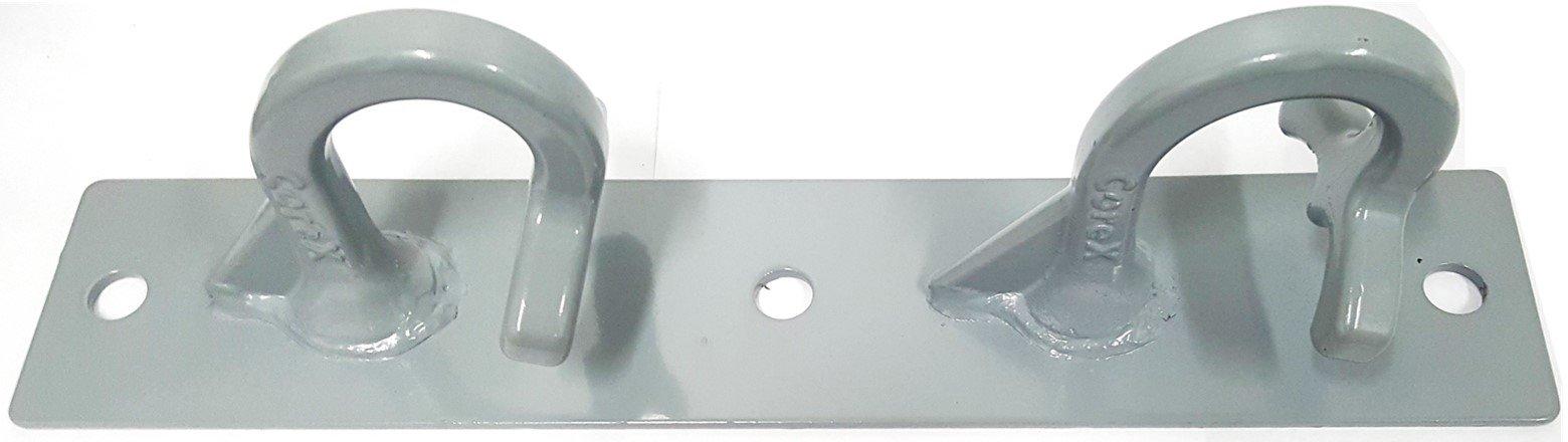 CoreMount Hook, Suspension Bodyweight and Resistance Training Hook Mounts (Grey, Vertical)