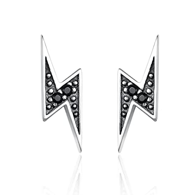 8ce8810f6 Reiko Harry Potter Lightning Stud Earrings 925 Sterling Silver Elegant  Fashion Earrings,Gift For Women Girl,Gift Box: Amazon.co.uk: Jewellery