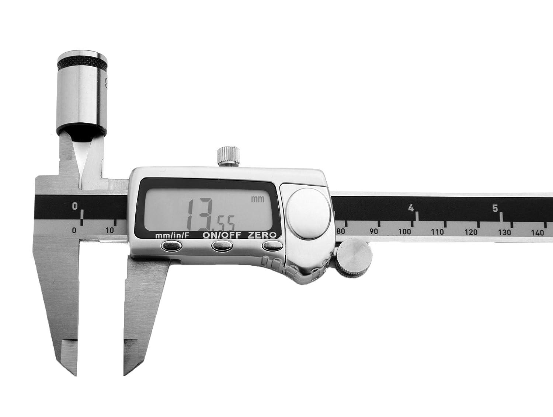 6 Capri Tools CP20001 Platinum Series Fractional Digital Caliper with Extra Large LCD Screen