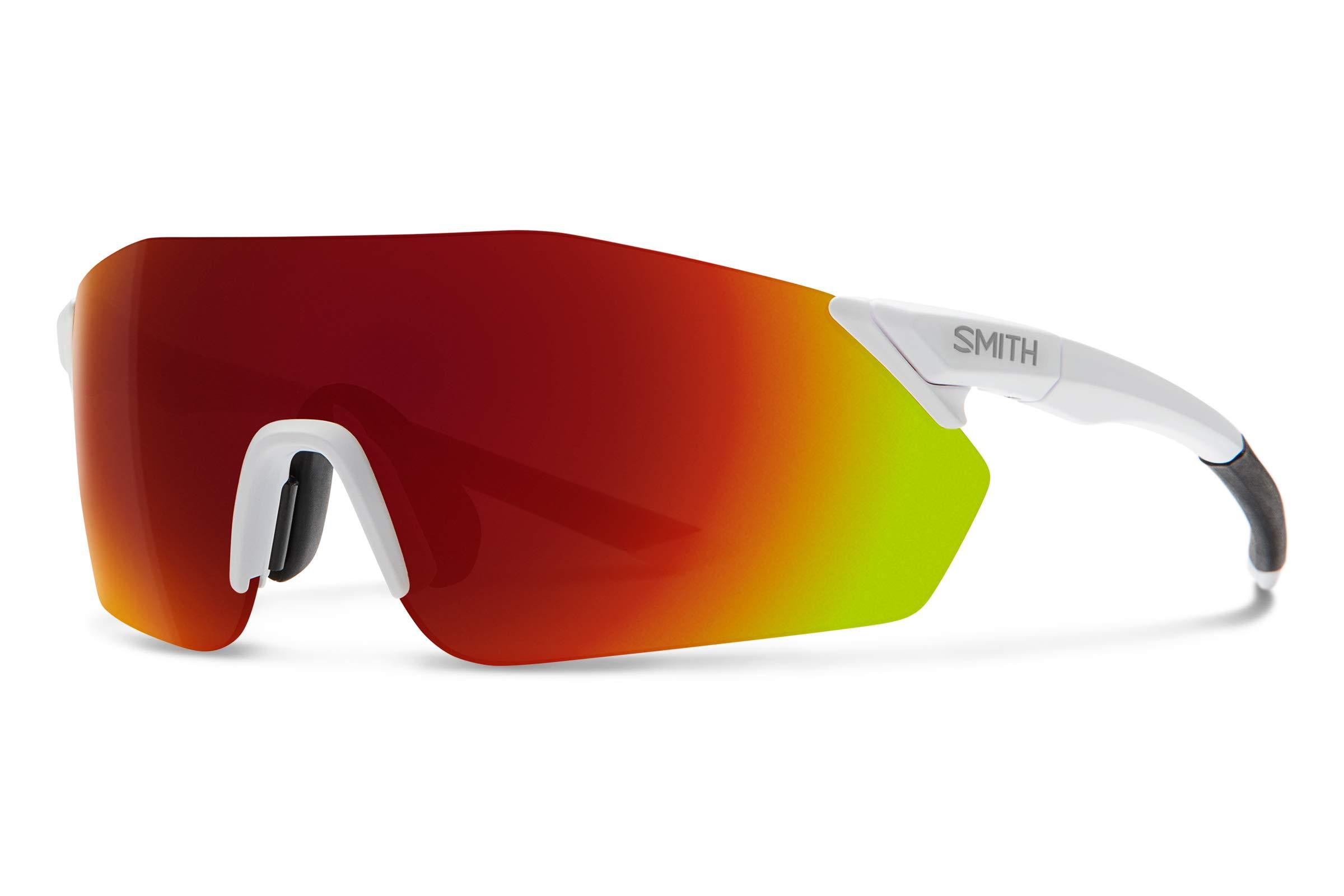 Smith Reverb Chromapop Sunglasses, Matte White, Chromapop Sun Red Mirror/Contrast Rose