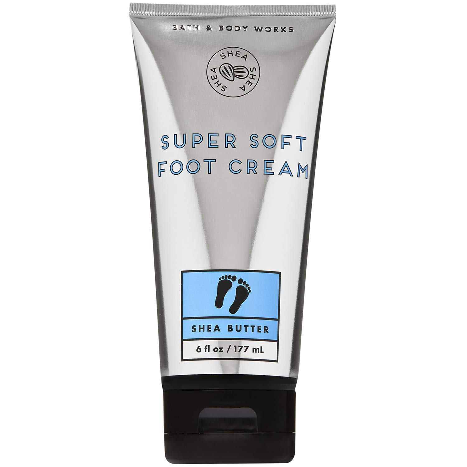 Bath and Body Works SHEA BUTTER Super Soft Foot Cream 6 Fluid Ounce : Beauty