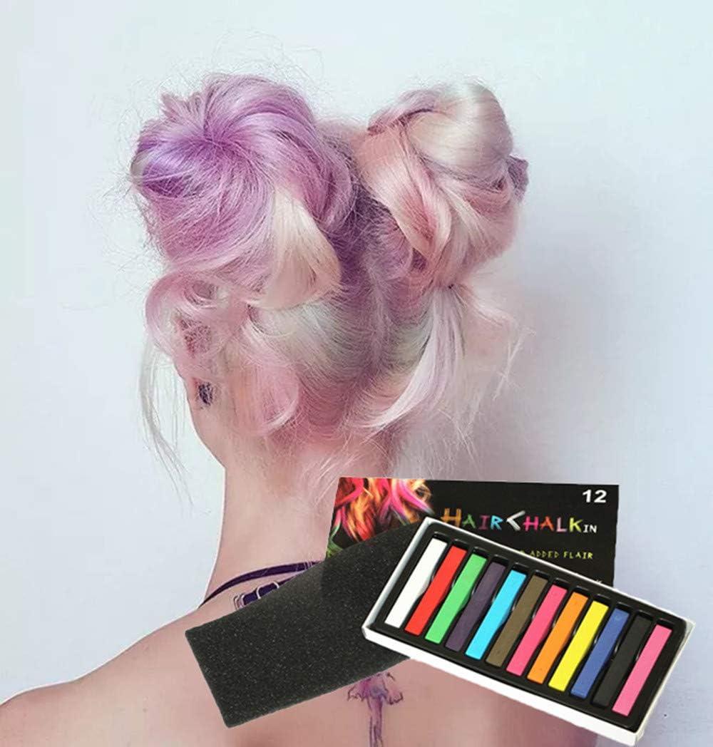 12 colores temporales de color de pelo tiza Set lavable, palo ...
