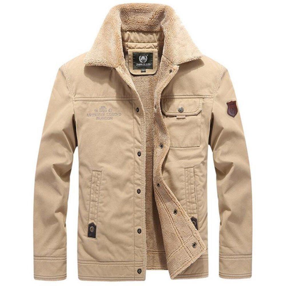 コートジャケット メンズデイリーシンプルカジュアル冬のトレンチコート B079DPXB6L XXXXL|カーキ カーキ XXXXL