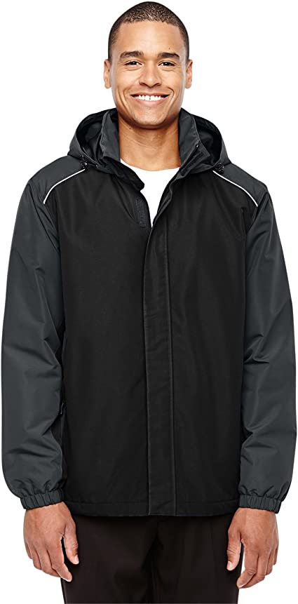 M 88225 Ash City Mens Inspire Colorblock All-Season Jacket -BLCK// CARBON