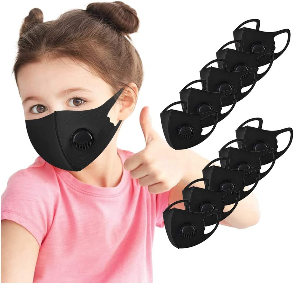 5Pcs Children Kids Face Coverings Washable Adjustable Reuseable Cartoon Lovely Face Protection