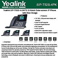 Yealink SIP-T52S 4-UNITS IP Phone Smart Media PoE 12-Lines Gigabit Ethernet