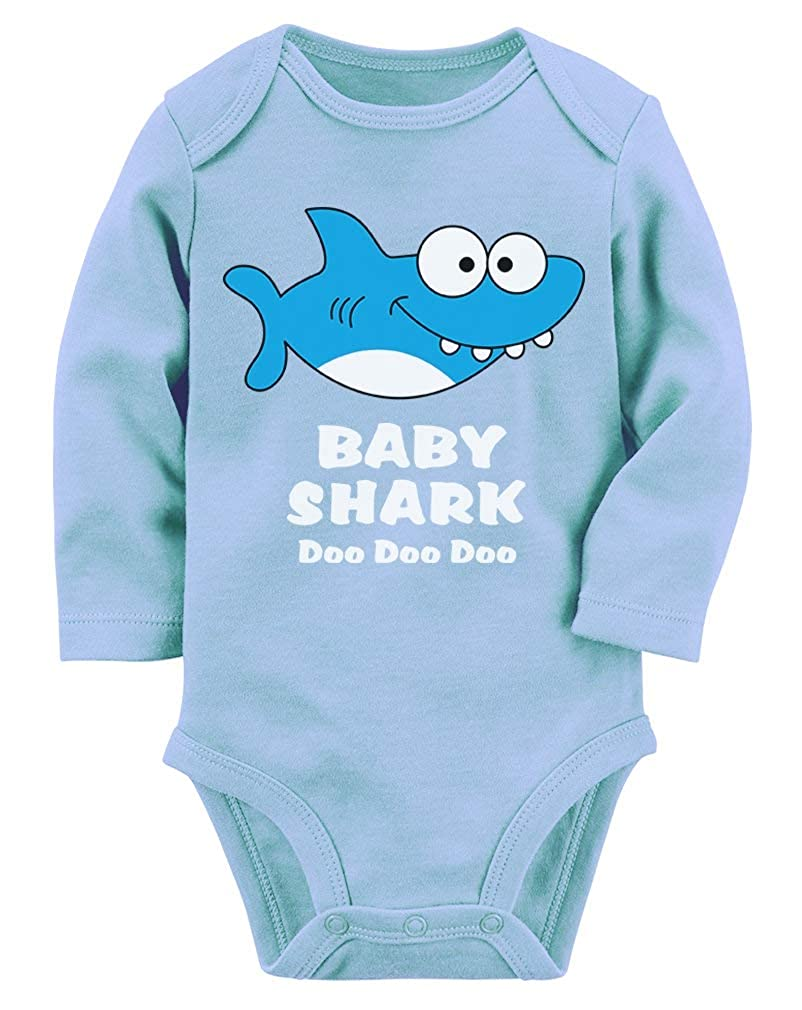 Baby Shark Song Doo doo doo Family Dance for Boy Girl Baby Long Sleeve Bodysuit GaMPM0lgb