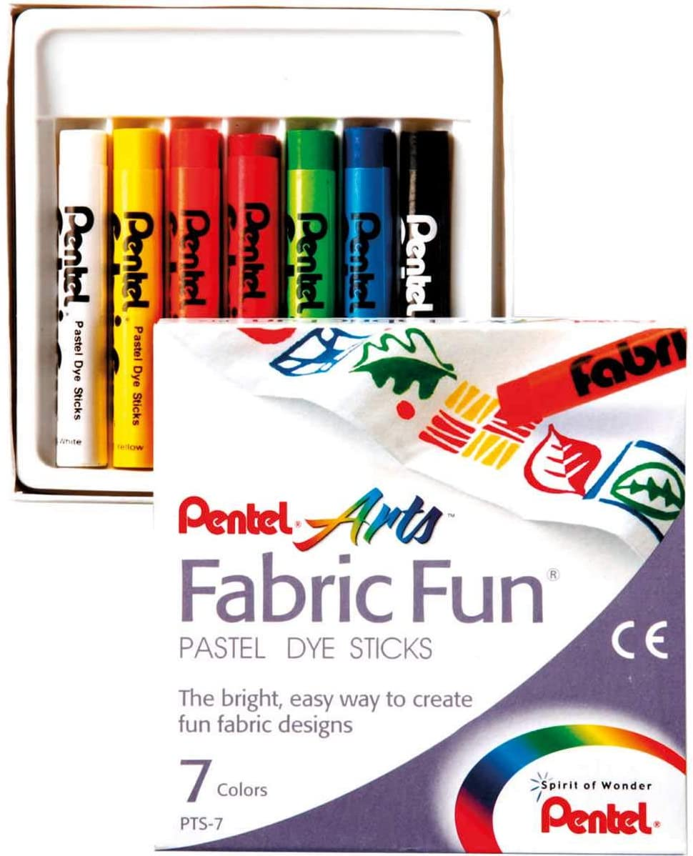 Arts and Crafts Pastel Dye Sticks for Clothes Pentel Create Fun Fabric Designs
