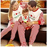 BOBORA Matching Christmas Pajamas for Family with Baby, Stripes Sleepwear