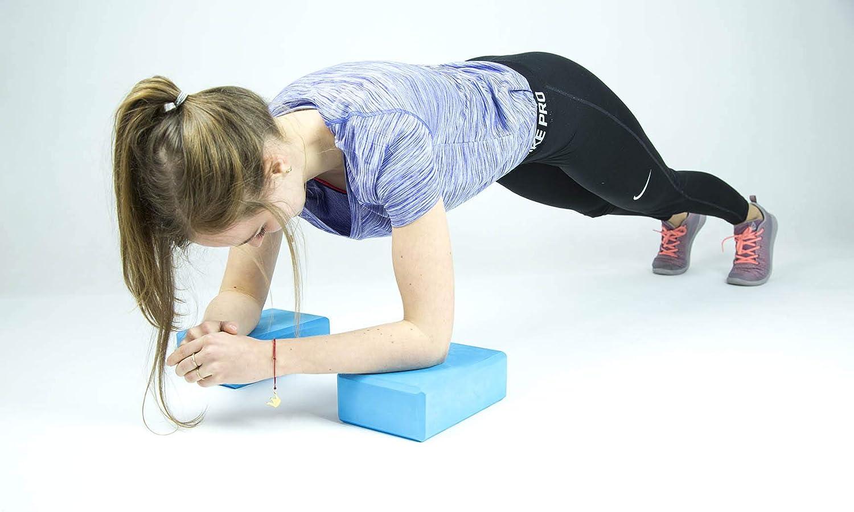 Color Azul Bloque de Yoga Thunder 2 Unidades, 15 x 23 x 7,5 cm