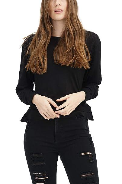 trueprodigy Casual Mujer Marca Camiseta Basico Ropa Retro Vintage Rock Vestir Moda Cuello Redondo Manga Larga Slim Fit Designer: Amazon.es: Ropa y ...