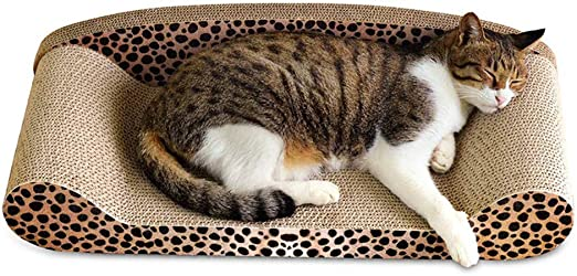 UNIIKE Gato Rascador Salón Rascar Pads Reversible de cartón con Orgánica Hierba gatera, Protector para Muebles Sofá Suelo Ecológico Juguete Molienda/Dormir/Entretenimiento: Amazon.es: Productos para mascotas