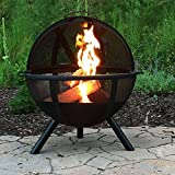 Sunnydaze Black Flaming Ball Fire Pit, 30 Inch Diameter Sphere