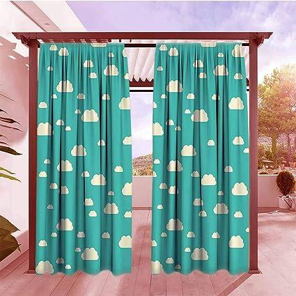 Amazon.com : Rod Pocket Pattern Curtains Turquoise Decor ...