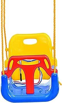 CLDZ Columpio Bebe Jardin|Asiento De Columpio|Plástico,Respaldo Alto|Cinturón De Seguridad, Ajustable|Funciones De Seguridad Mejoradas|Edad Mínima: 6 Meses|Rodamiento Máximo De 200 Kg|Combinación: Amazon.es: Juguetes y juegos