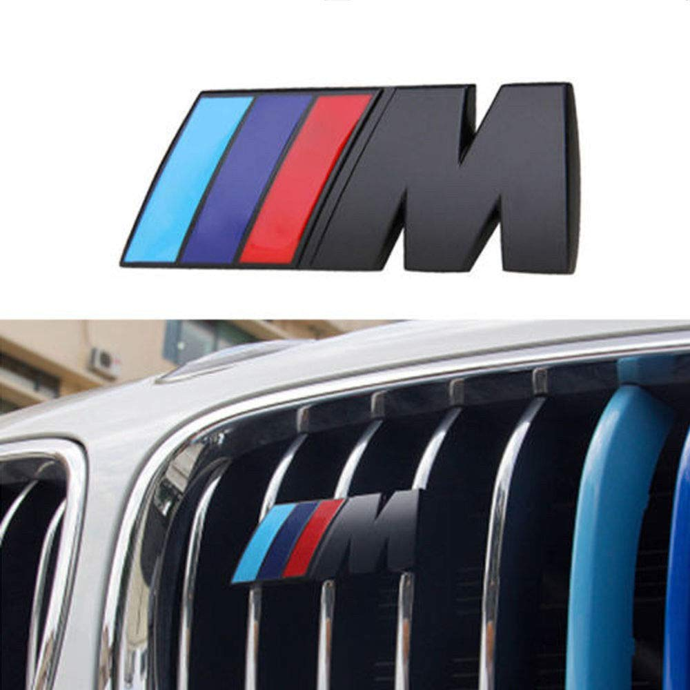 Amazon com m front grille emblem 3d metal power car chrome badge fashion logo for bmw m m3 m5 x1 x3 x5 x6 e36 e39 e46 e30 e60 e92 black automotive