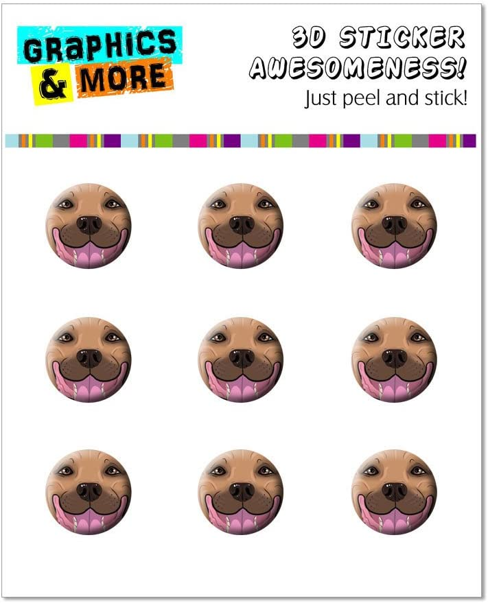 Graphics and More Fawn Pit Bull Face - Pitbull Dog Pet Home Button Stickers Fits Apple iPhone 4/4S/5/5C/5S, iPad, iPod Touch - Non-Retail Packaging - Clear