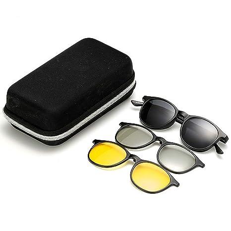 Tonos de moda Gafas de sol polarizadas retro con 3pcs lentes ...