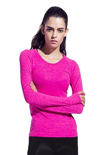 Sentao Mujer Deportiva Camisetas Yoga Pilates Gimnasio ...