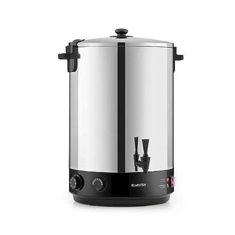 Klarstein KonfiStar 40 olla para confituras - caldera de cocción,Termo para bebidas, 40 litros, 30-110 °C, Programable 20-120 min, Conserva la ...