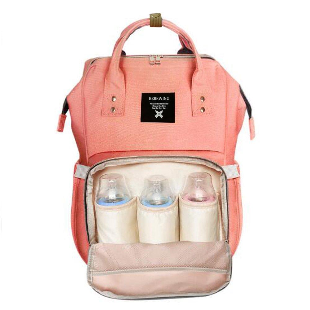 Glenmores Page Mochila Carro Bebe Pañales Bolso Maternal Mochilas para Mama Impermeable Grande Mochilas Viaje (rosa): Amazon.es: Bebé