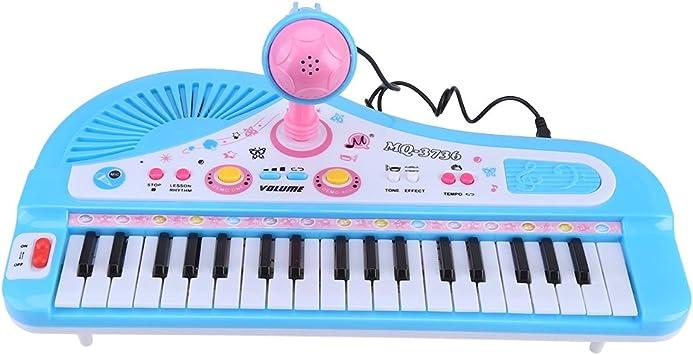 Hztyyier Teclado de Piano para niños Teclado de Karaoke ...