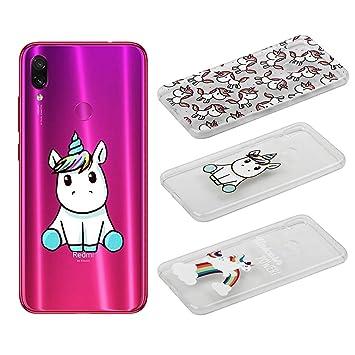 [3 Pack] Funda para Xiaomi Redmi Note 7 /Xiaomi Redmi Note 7 Pro, Weideworld 3D Patrón Flexible Ultra Slim TPU Silicona Back Carcasa Funda para Xiaomi ...
