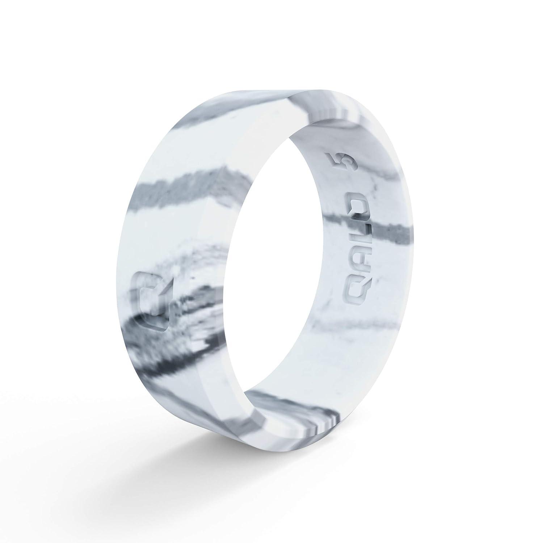 スーパーセール期間限定 QALO-レディースシリコンリング(品質は、陸上競技、愛とアウトドア)は7-18のサイズを B07H86WK2K White Marble White Frame Size Frame Size 10 Size 10|White Marble Frame, VELLE:783deb3e --- arianechie.dominiotemporario.com