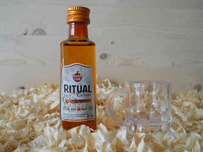 Botellin miniatura Ron Ritual con vasito chupito - Pack de 6 ...