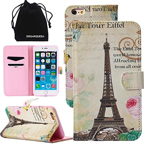 """DRUnKQUEEn® For iPhone 6 (4.7"""") Textured Color Printing PU Leather Wallet Case Cover with Card Slots Cash Compartment"""