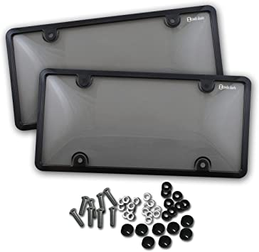 Zento Deals Unbreakable License Plate Frame 2 Pack Universal Fit Novelty Plate Covers