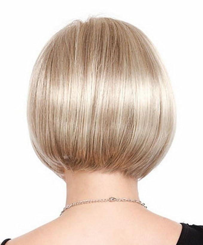 BeautyWig Bob Kurz Blond Perücke Stilvoll Direkt Synthetik Mit Haar ...