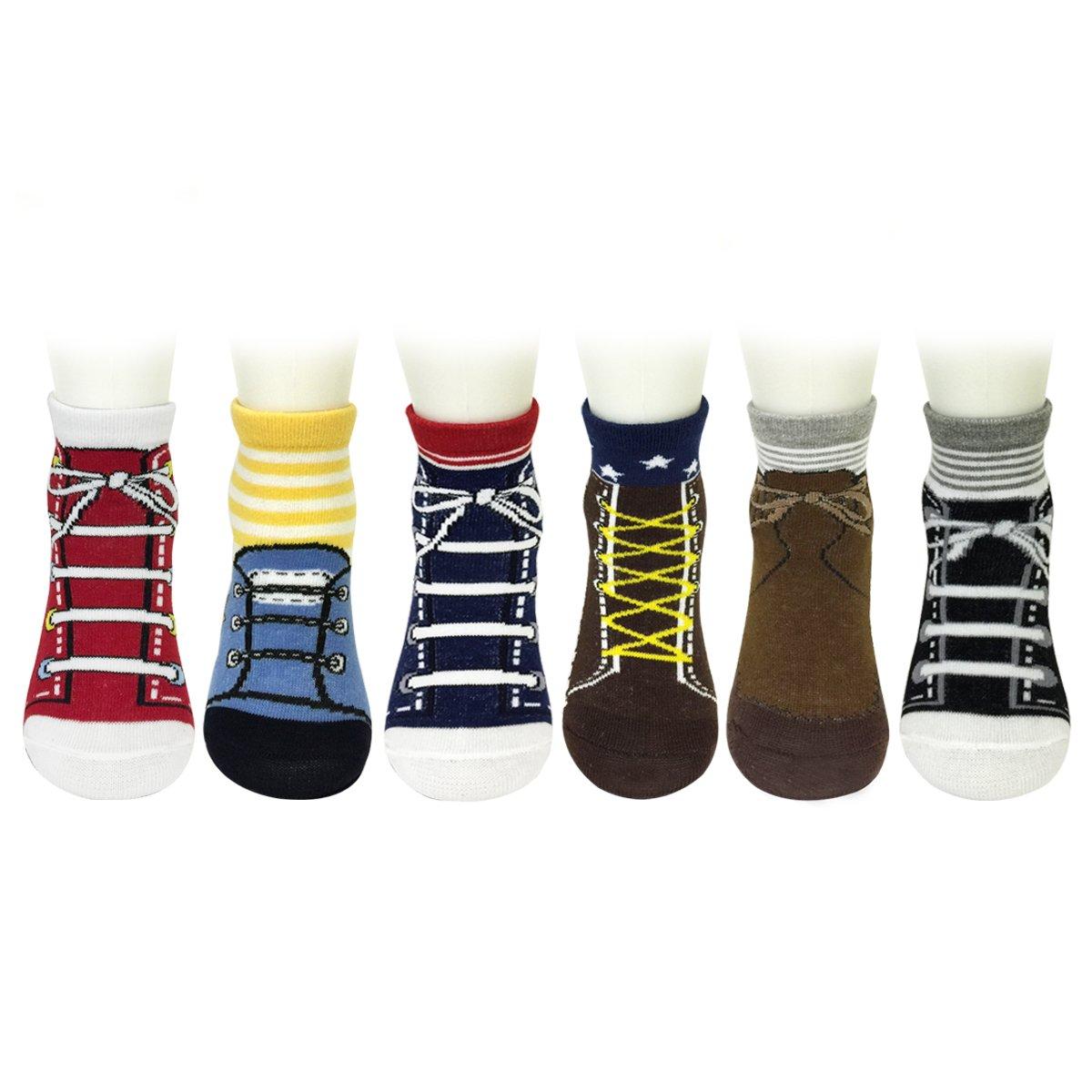 Baby 6 Pair Looks like Shoes Socks