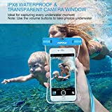 Mpow Waterproof Case, New Type PVC Waterproof Phone Pouch, Universal Dry Bag for iPhone 7/7 Plus, Galaxy /Google Pixel/LG/HTC (3-Pack Blue, Orange, Green)
