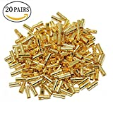 ShareGoo 3.5mm Male & Female Gold Banana Plug Bullet Connector Plug for RC Battery ESC Motor (Pack of 20 Pairs)