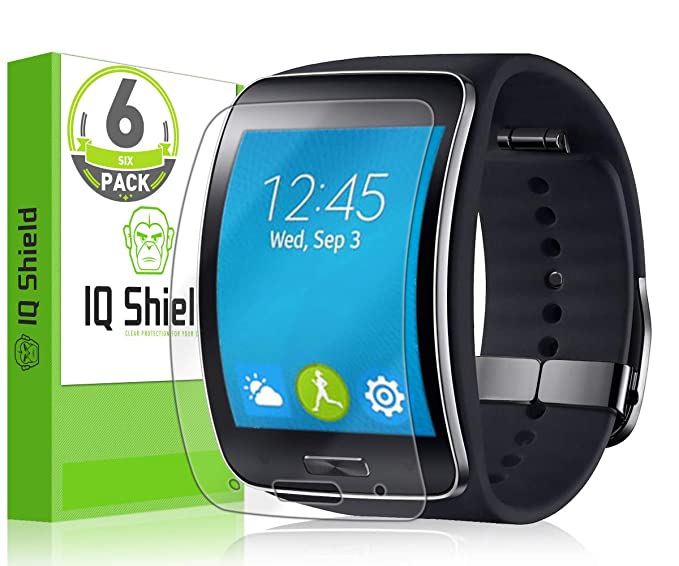 IQShield Screen Protector Compatible with Samsung Gear S (6-Pack) LiquidSkin Anti-Bubble Clear Film