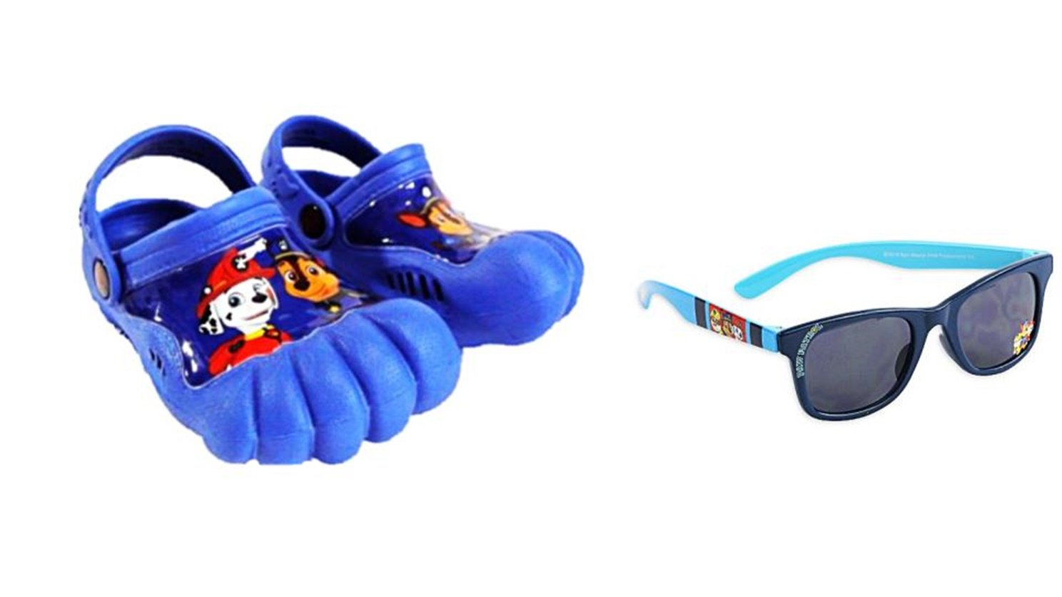 Paw Patrol Toddler Boys Activity Clogs Size Small (5/6) Plus Sunglasses