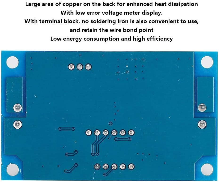 1pc Buck Step Down Module LM2596 DC//DC 4.0~40V a 1.25-37V Regulador de Voltaje Ajustable con volt/ímetro LED MAGT Buck Converter