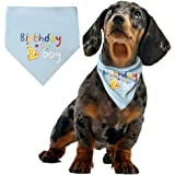 Pengxiaomei Dog Birthday Bandana Scarfs Soft Pet Scarf For Dogs Neck