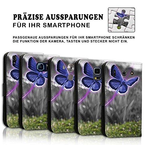 Wallet Book Style Flip Handy Tasche Case Schutz Hülle Schale Motiv Etui für Apple iPhone 5 / 5S - Design Flip MV165