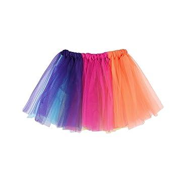 Tefamore Falda de Verano Falda de Ballet Multicolor Falda ...