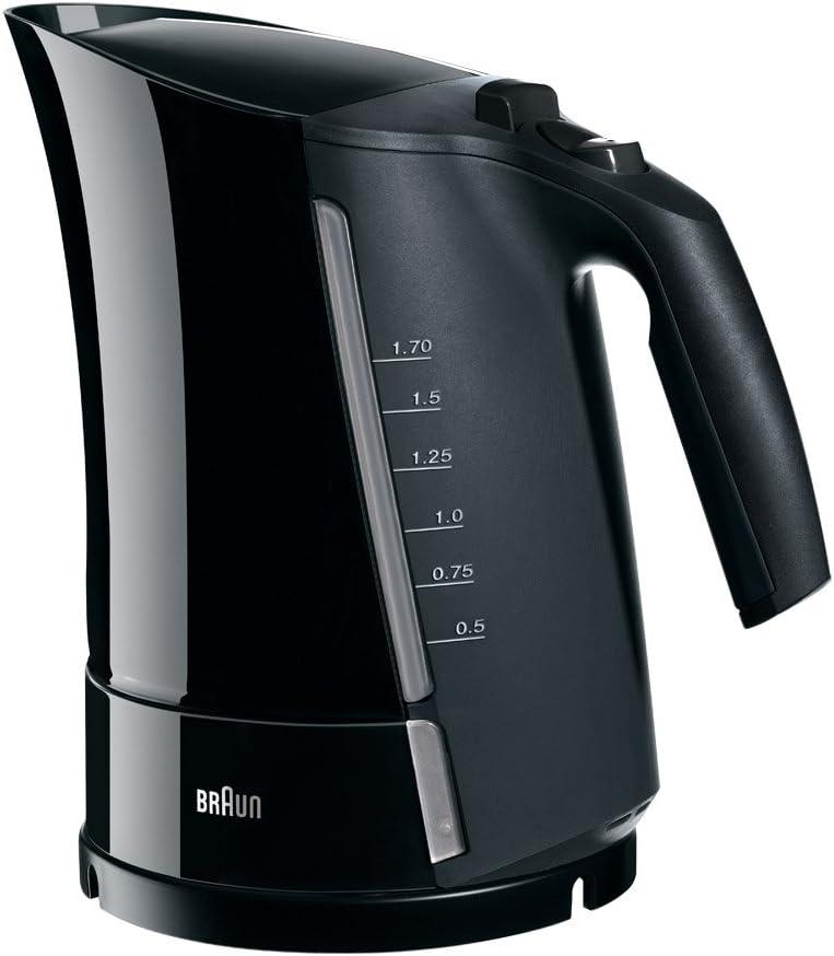 Braun WK300 Black Electric Tea Kettle, 1.6 Liter, 220-240 Volts (Not for USA - European Cord)